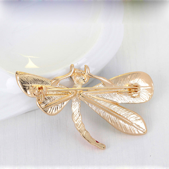 Dragonfly Multicolored Brooch - $.01 ITEM OF THE WEEK - ONE PER CUSTOMER - Luna's Warehouse