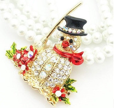 Snowman Brooch - Luna's Warehouse
