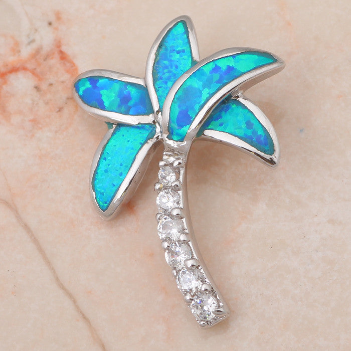 Embellished Palm Tree Necklace - Luna's Warehouse