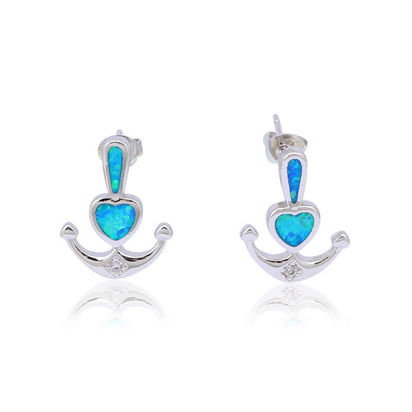 Anchor Heart Earrings   Lunau0027s Warehouse ...