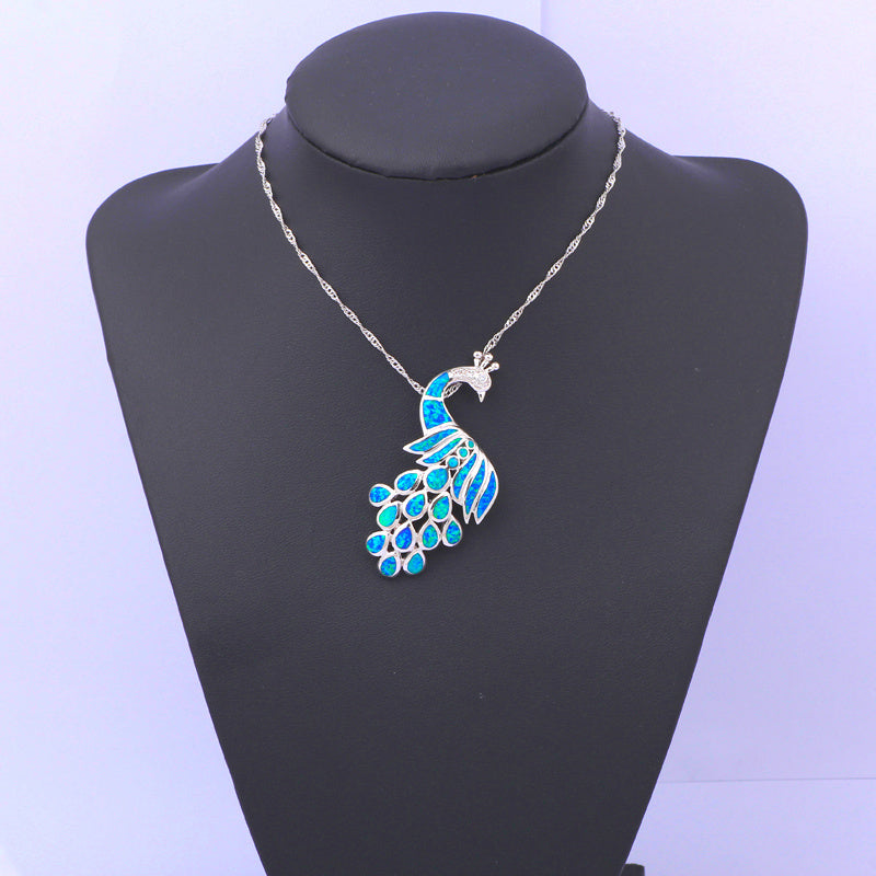 Peacock Opal Necklace - Luna's Warehouse