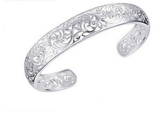 Hollowed Flower Cuff Bracelet - Luna's Warehouse