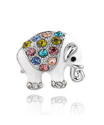 Jeweled Elephant Stud Earrings - Luna's Warehouse