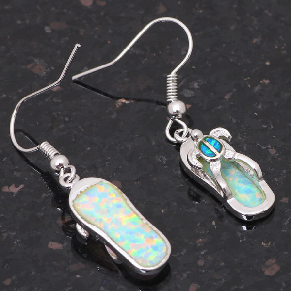 Turtle Flip Flop Fire Opal Earrings - Luna's Warehouse