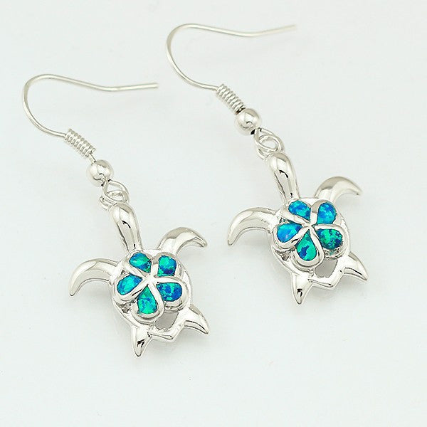 Turtle Flower Drop Earrings - Luna's Warehouse