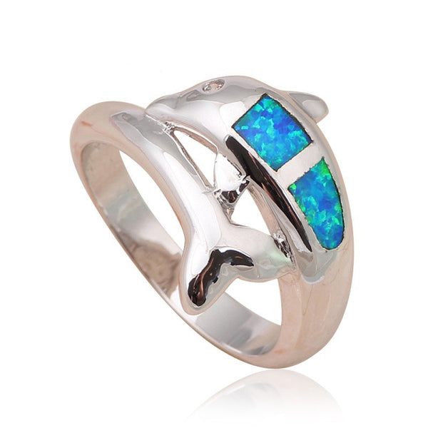 Dolphin Fire Opal Ring - Luna's Warehouse