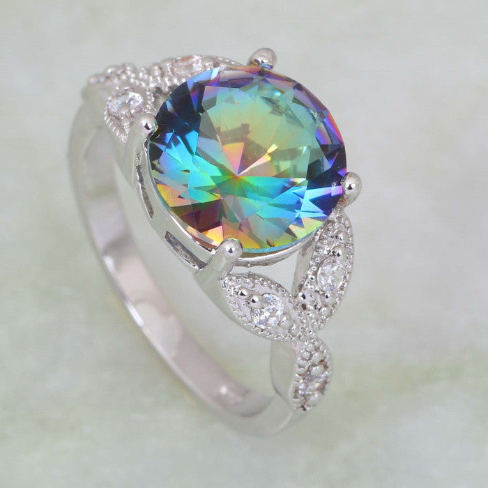 Embellished Mystic Topaz Ring - Luna's Warehouse