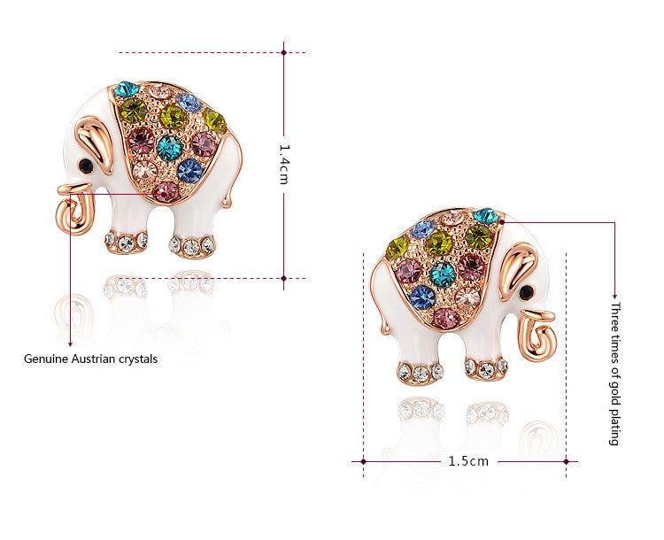 stud gold baby carissima earrings p colour jewellery elephant