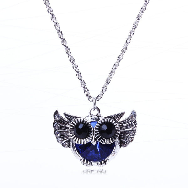 Flying Owl Pendant Necklace - Luna's Warehouse