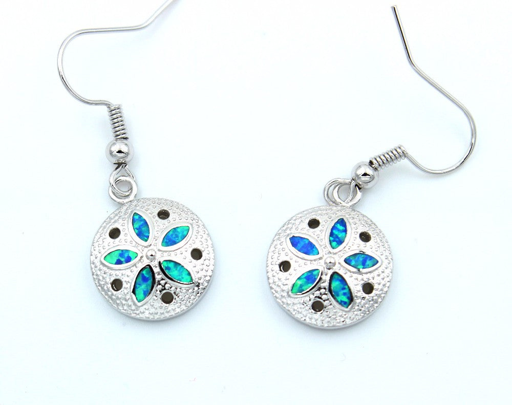 Sand Dollar Necklace or Earrings - Luna's Warehouse