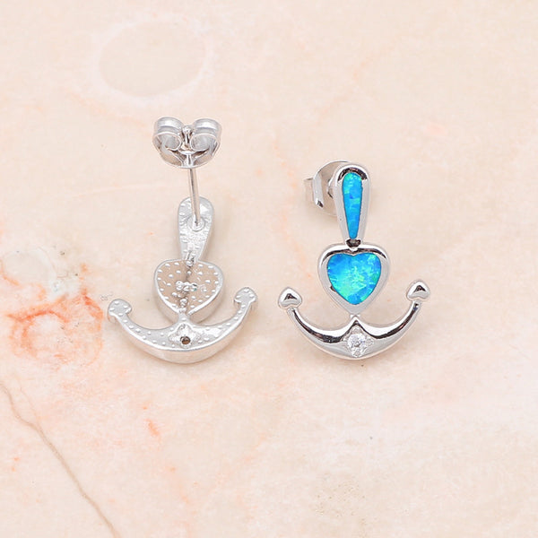 Anchor Heart Earrings - Luna's Warehouse