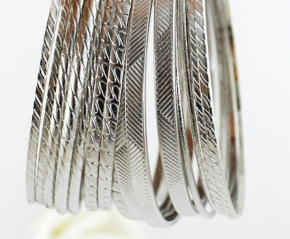 Bangle Bracelet Sets in Gold and Silver - Luna's Warehouse