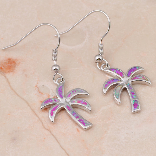 Palm Tree Drop Earrings - Luna's Warehouse