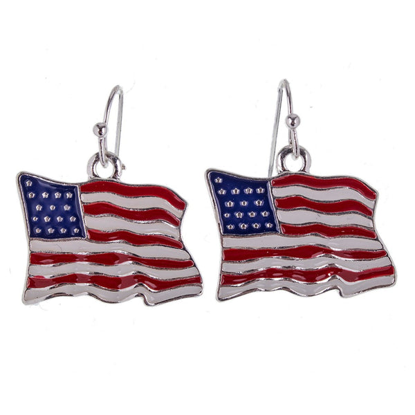 Stars and Stripes Earrings - Luna's Warehouse