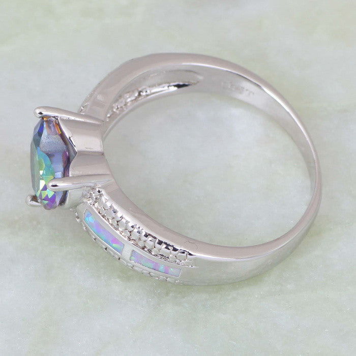 Mystic Topaz Heart Ring - Luna's Warehouse