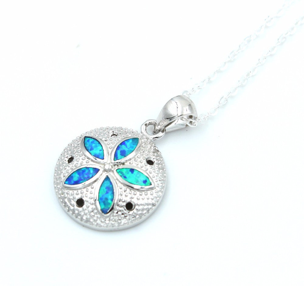 Sand Dollar Necklace or Earrings - Luna's Jewelry Warehouse - 2