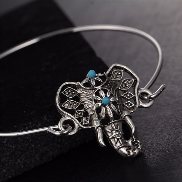 Elephant Bangle Bracelet - Luna's Jewelry Warehouse - 1