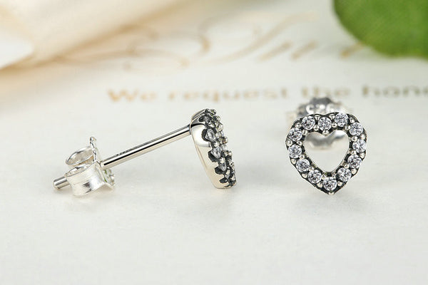 Sterling Silver Heart Stud Earrings - Luna's Warehouse