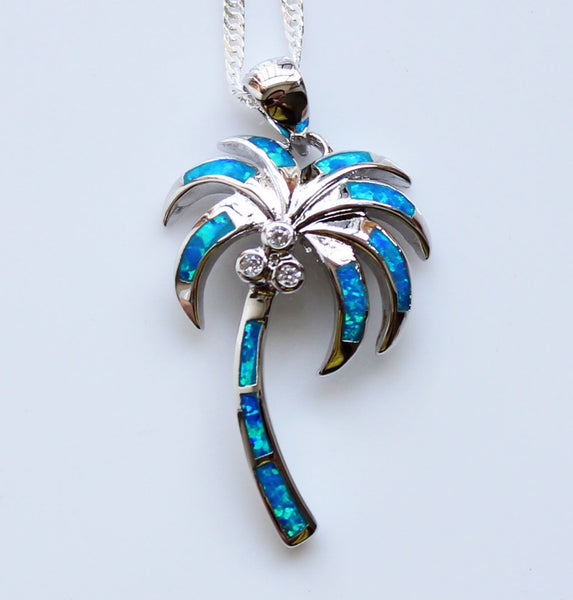Fire Opal Palm Tree Pendant - Luna's Warehouse