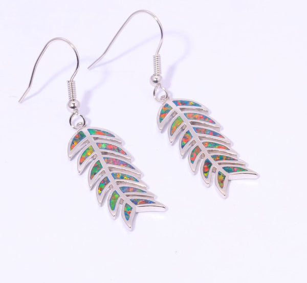 Bella Opal Drop Earrings - Luna's Jewelry Warehouse - 1