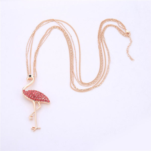 PINK FLAMINGO NECKLACE - Luna's Warehouse