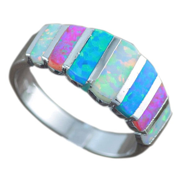 Tri-color Opal Ring - Luna's Warehouse