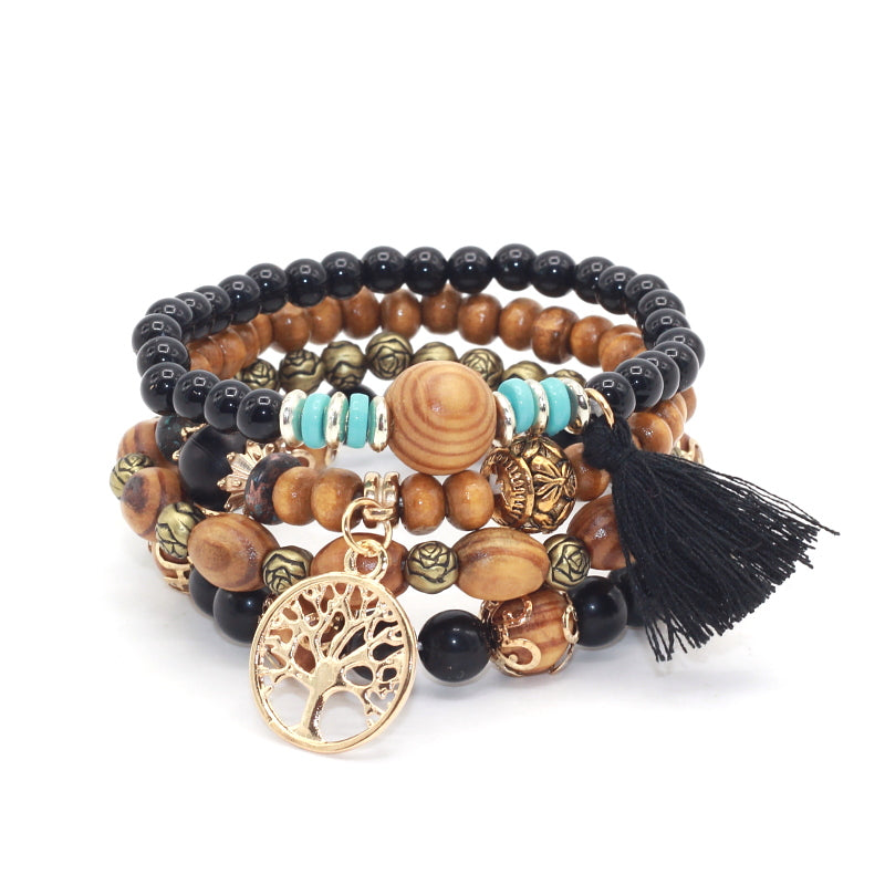 Montego Beaded Bracelet Quartet - Luna's Warehouse