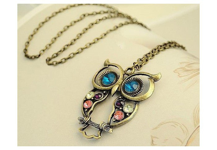 Perched Owl Pendant Necklace - Luna's Warehouse