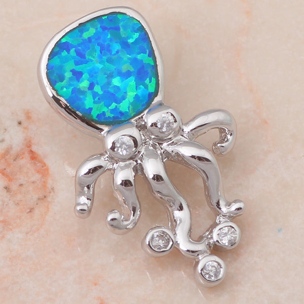 Fire Opal Octopus Pendant - Luna's Warehouse