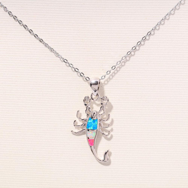 Scorpion Fire Opal Necklace - Luna's Warehouse