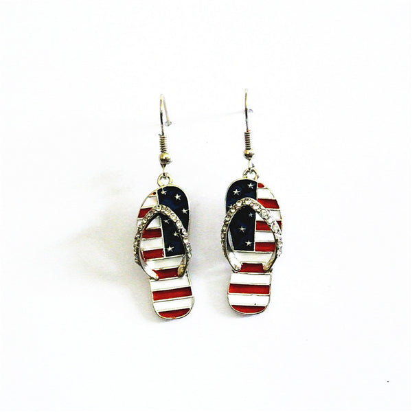American Flag Earrings