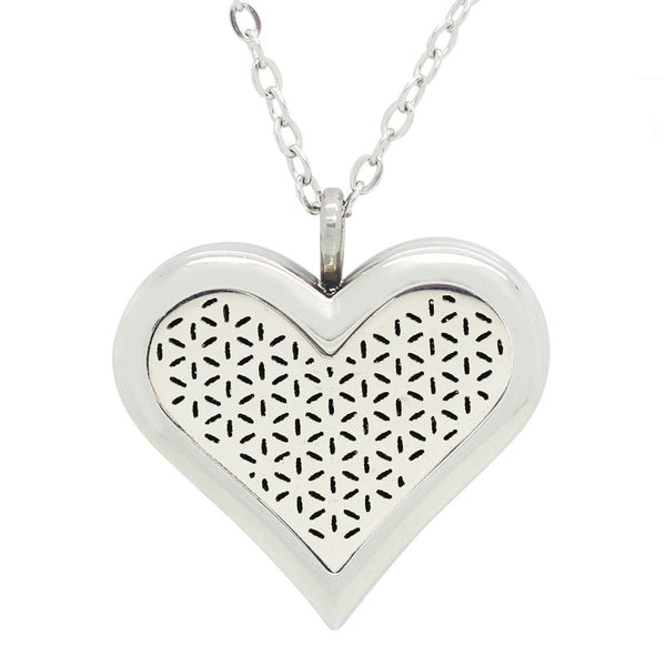 Heart Aromatherapy Diffuser Necklace - Luna's Warehouse