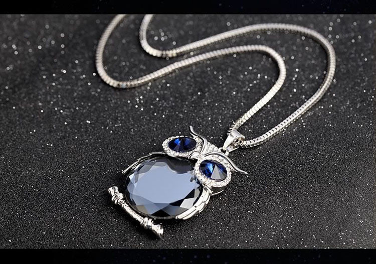 necklaces clear crystal pendant captured large necklace