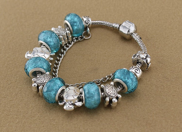 Beaded Sea Turtle Bracelet - Luna's Warehouse