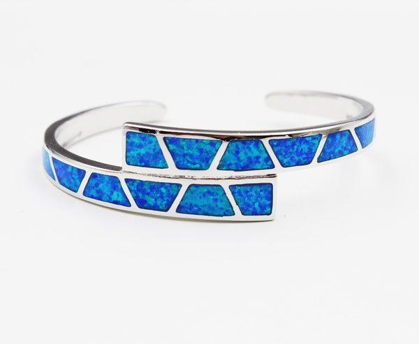 Fire Opal Double Cuff Bracelet - Luna's Warehouse