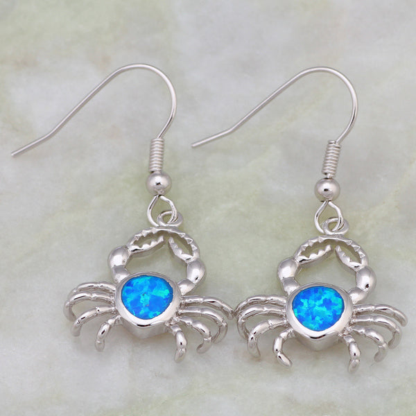 Crab Drop Earrings - Luna's Warehouse