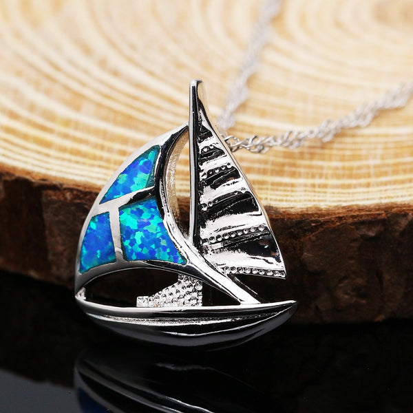 Sailboat Pendant Necklace - Luna's Warehouse