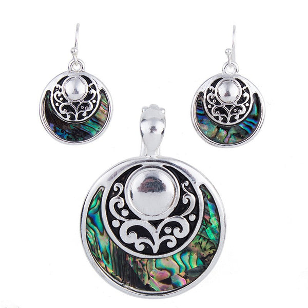Crescent Moon Pendant and Earring Set - Luna's Jewelry Warehouse - 1