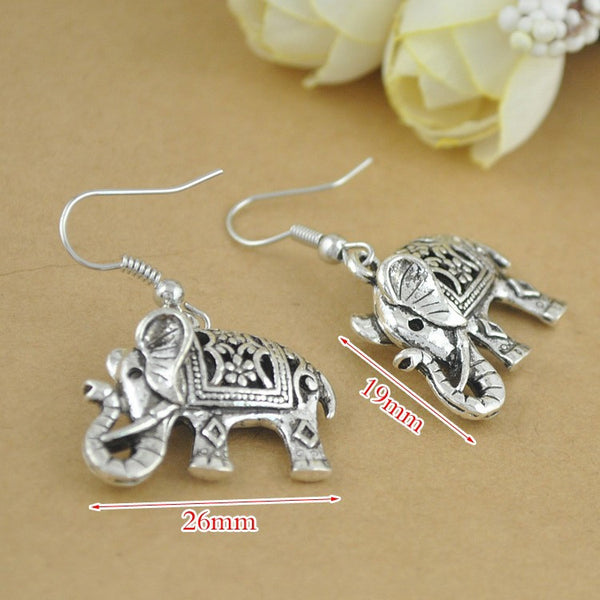 Elephant Drop Earrings - Luna's Warehouse