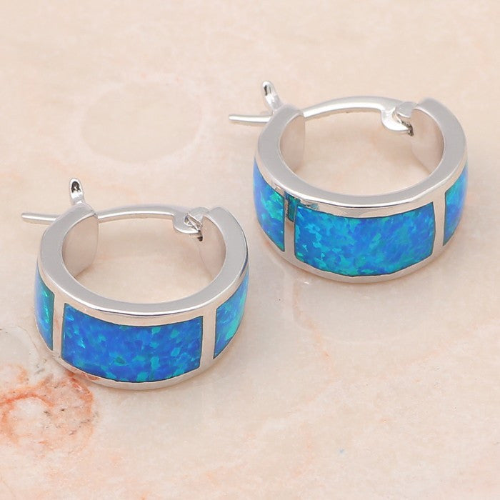 Fire Opal Mini Hoop Earrings - Luna's Warehouse