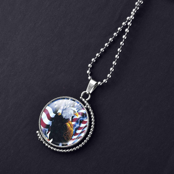 American Flag & Eagle Necklace - Luna's Warehouse