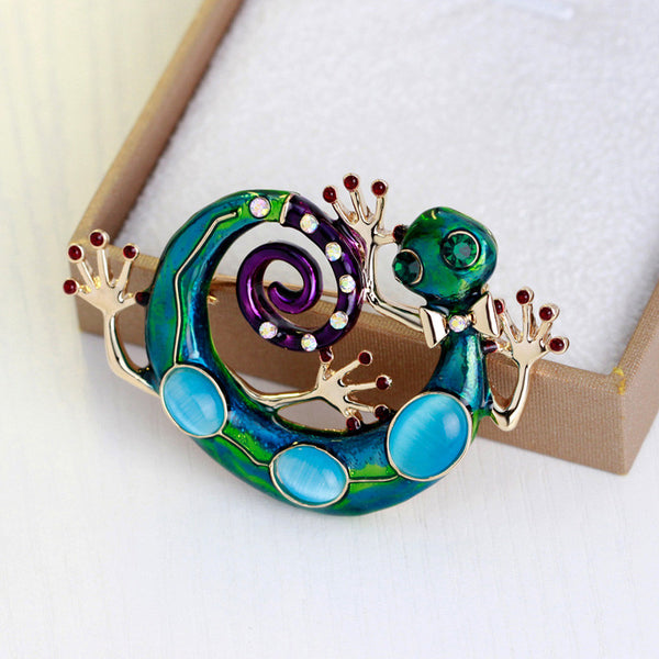 Gecko Brooch - Luna's Warehouse