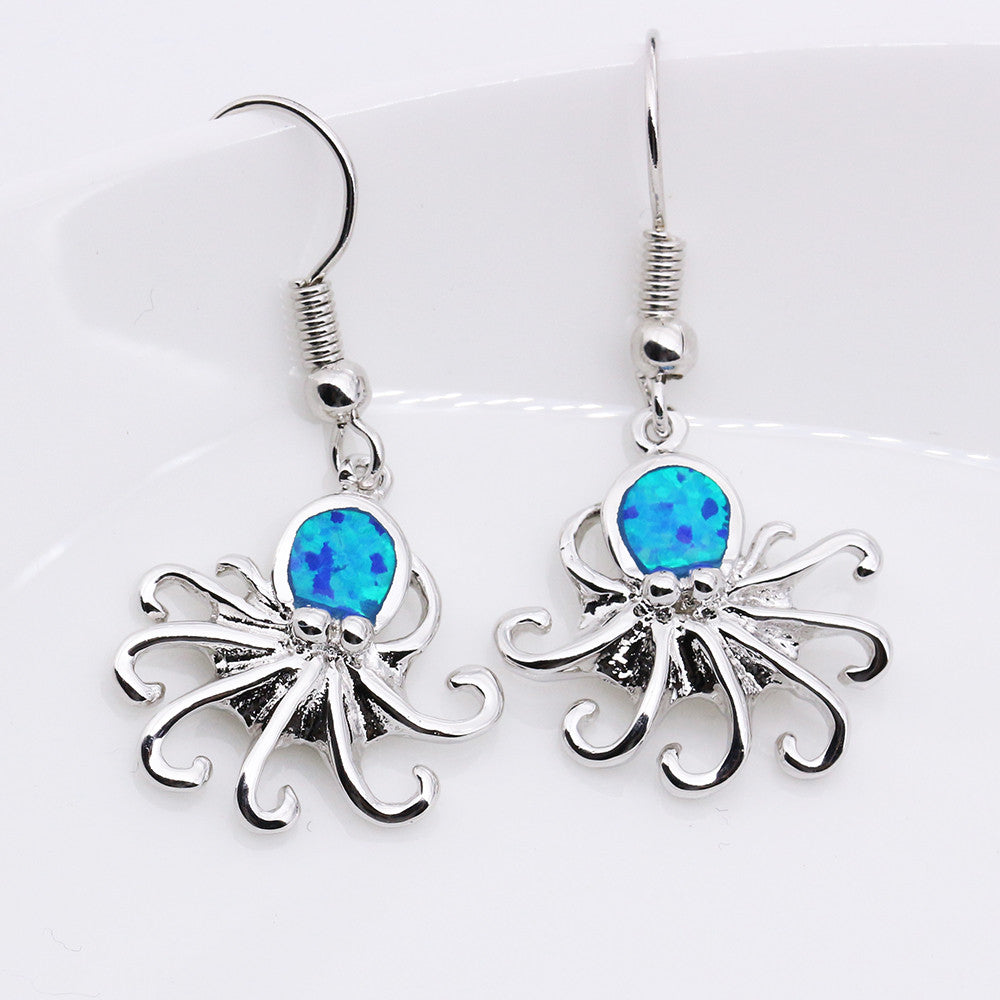 Octopus Drop Earrings - Luna's Warehouse