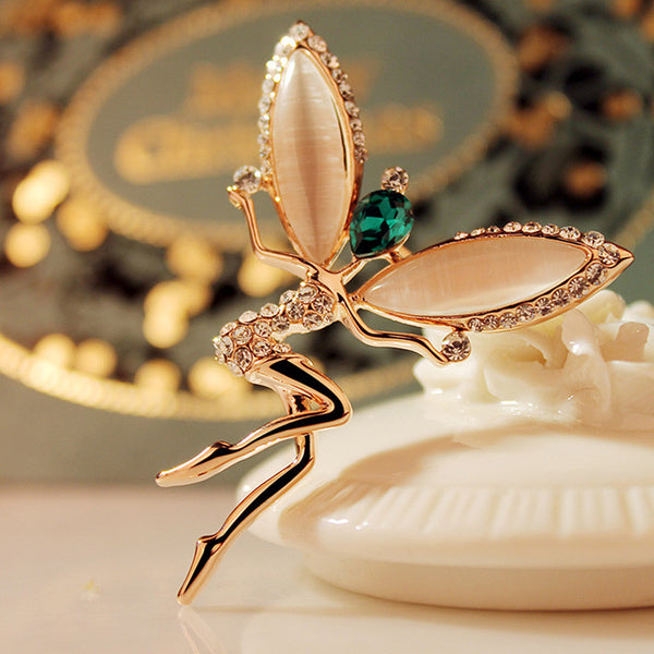 Dragonfly Fairy Brooch - Luna's Warehouse
