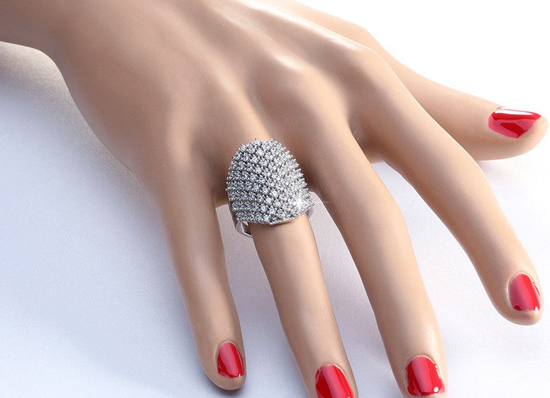 Cubic Zirconia Cocktail Ring - Luna's Warehouse