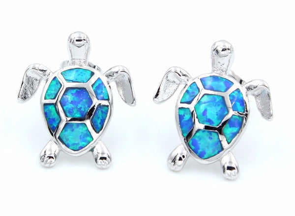 Opal Turtle Earrings - Luna's Warehouse