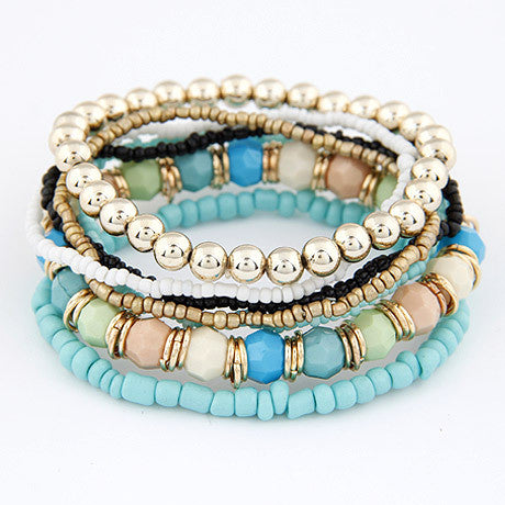 Beaded Bracelet Set - Luna's Warehouse