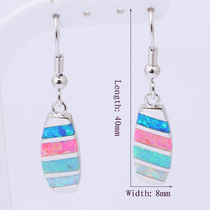 Rainbow Opal Drop Earrings - Luna's Warehouse
