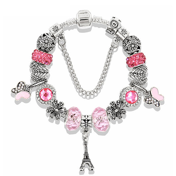 Beaded Paris Charm Bracelet - Luna's Warehouse