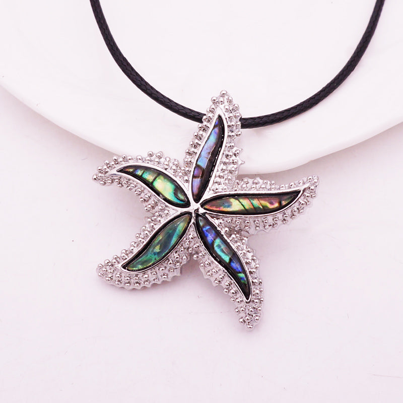 Abalone Starfish Pendant Necklace - Luna's Warehouse